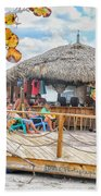 Tiki Bay Island  Beach Towel