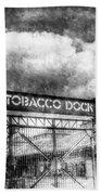 Tobaco Dock London Vintage Beach Towel