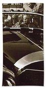 Tom Barrett And Family High Bidder Earl Clark At $153,000 Of Adolf Hitlers Mercedes Benz 770k Beach Towel