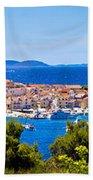 Town Of Primosten Panoramic View Beach Towel