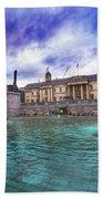 Trafalgar Square Fountain London 5 Art B Beach Towel