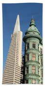 Transamerica Pyramid Building Beach Towel