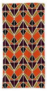 Triangles Pattern Beach Towel