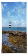 Trwyn Du Lighthouse Beach Towel