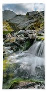 Tryfan In The Ogwen Valley Beach Towel