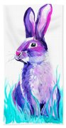 Turquoise And The Hare  Beach Towel