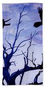 Twilight Flight Beach Towel
