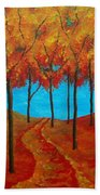 Twilight Woods Beach Towel