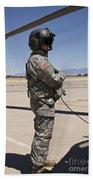 Uh-60 Black Hawk Crew Chief Beach Towel
