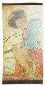 Ukyo-e Soul Beach Sheet