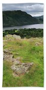 Ullswater Lake From Gowbarrow Fell, Lake District Beach Towel