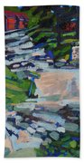 Uphill In Rockport Beach Towel