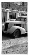 Upholstery Shop Dental Clinic 1930's Auto Us Mexico Border Naco Sonora Mexico 1980 Beach Towel