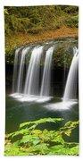 Upper Butte Creek Falls In Autumn Beach Towel