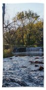 Valley Creek Waterfall - Valley Forge Pa Beach Towel