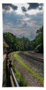 Valley Forge Train Station  Beach Towel