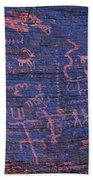 Valley Of Fire Petroglyphs Beach Towel