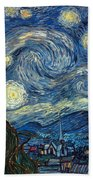 Van Gogh Starry Night Beach Towel