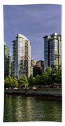 Waterfront Of Vancouver, Canada Beach Towel