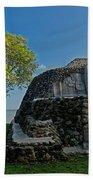 View Of Cerros Maya Ruins At Cerros Beach Towel
