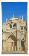 View Of Toledo Cathedral In Sunny Day, Spain. Beach Towel