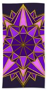 Violet Galactic Star Beach Towel