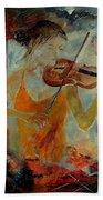 Violinist 67 Beach Towel