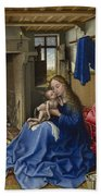 Virgin And Child In An Interior Beach Towel