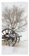 Wagon In The Snow Beach Towel