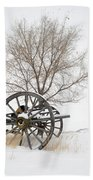 Wagon In The Snow Beach Towel