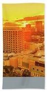 Waikiki City Sunset Beach Towel