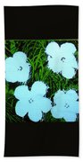 Warhol - Flowers 3 Andy Warhol Beach Towel