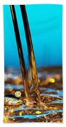 Water And Oil Beach Sheet