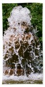Water Fountain  Beach Towel