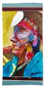 Water Healing Ceremonial Chief Yaz Beach Towel