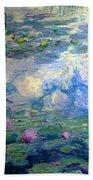 Water Lilies, Nympheas, By Claude Monet,  Musee Marmottan Monet, Beach Towel