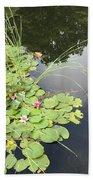 Water Lillies Beach Towel