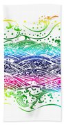 Water Pattern Beach Towel