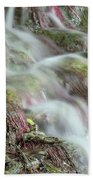 Water Spring Scene Beach Towel