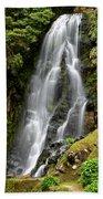 Waterfall At Azores Beach Towel
