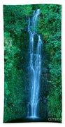 Waterfall Close-up Beach Towel