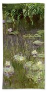 Waterlilies At Midday Beach Towel