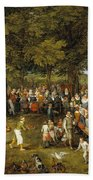 Wedding Banquet Presided Over By The Archduke And Infanta Beach Towel