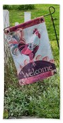 Welcome To My Garden Beach Towel