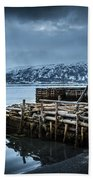 Wharf In Norris Point, Newfoundland Beach Towel