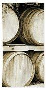 Wine Barrels Beach Sheet