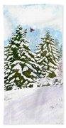 Winter Delight Beach Towel