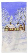 Winter Landscape, Painting Beach Towel