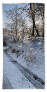 Winter Wonderland In Central Scotland Beach Towel