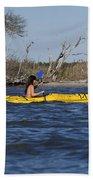 Woman Kayaking Beach Towel